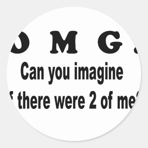 el omg se imagina 2of yo etiquetas redondas