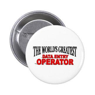 El operador de entrada de los datos más grande del chapa redonda de 5 cm