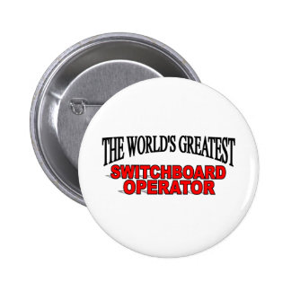El operador de la centralita telefónica más grande chapa redonda de 5 cm