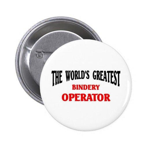 El operador más grande de la encuadernación pin