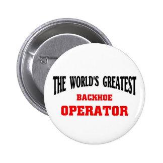 El operador más grande de la retroexcavadora pin