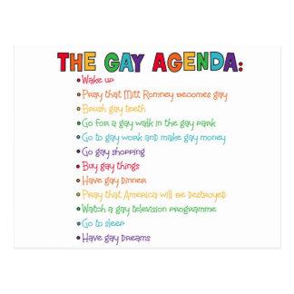 El orden del día gay postal