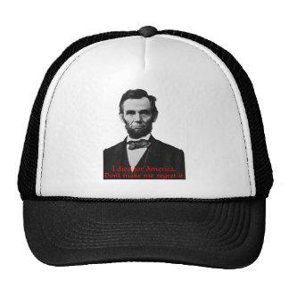 El orgullo americano de Abraham Lincoln Gorro De Camionero