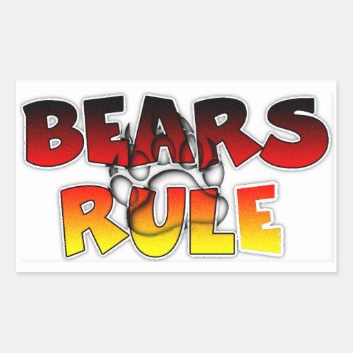 El orgullo del oso lleva regla rectangular pegatinas