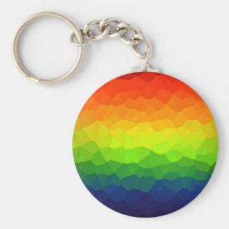 El orgullo gay del arco iris colorea símbolo de llavero redondo tipo chapa