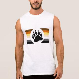 El orgullo gay del oso colorea rayas y la pata de camiseta sin mangas