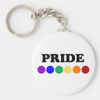 El orgullo gay puntea llavero del arco iris de