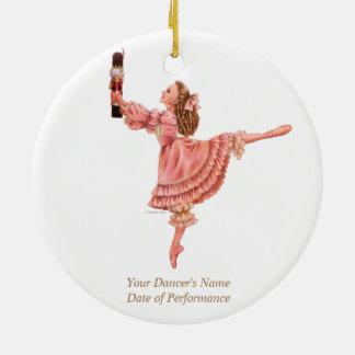 El ornamento del recuerdo del ballet del adorno navideño redondo de cerámica