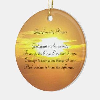 El ornamento del rezo de la serenidad