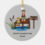 El ornamento más grande del navidad del papá del m adorno de navidad