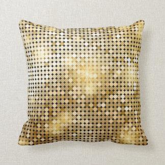 el oro chispea almohada de tiro