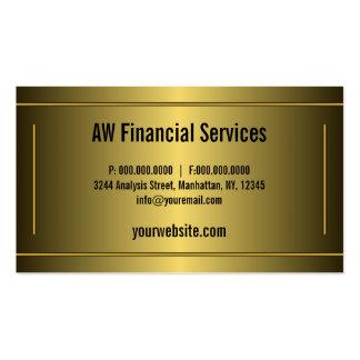 El oro clásico enmarcado barra al contable tarjetas de visita