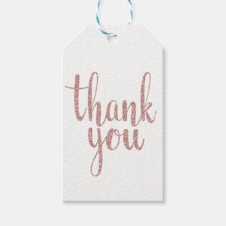 El oro color de rosa le agradece favorecer las etiquetas para regalos