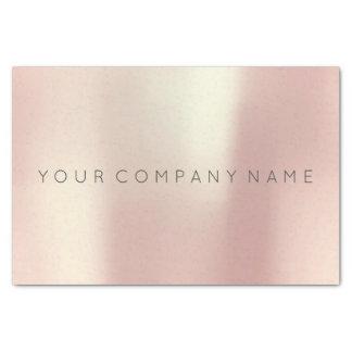 El oro color de rosa rosado de marcado en caliente papel de seda