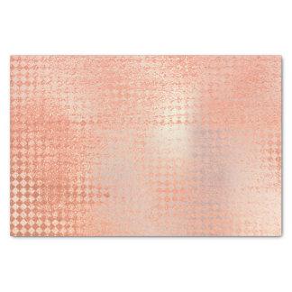 El oro color de rosa rosado metálico se ruboriza papel de seda
