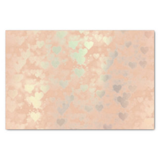 El oro color de rosa rosado se ruboriza los papel de seda