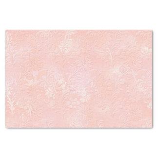 El oro color de rosa rosado se ruboriza real papel de seda
