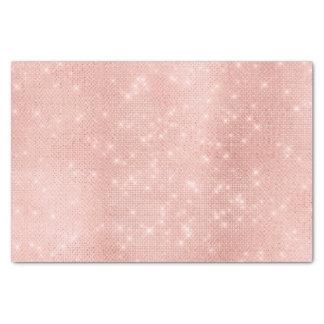 El oro color de rosa se ruboriza brillo metálico papel de seda