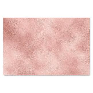 El oro color de rosa se ruboriza vidrio metálico papel de seda