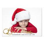 El oro cree la tarjeta de la foto del navidad invitaciones personales