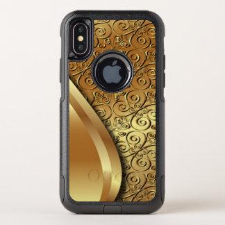 El oro de dos tonos plateó textura con una