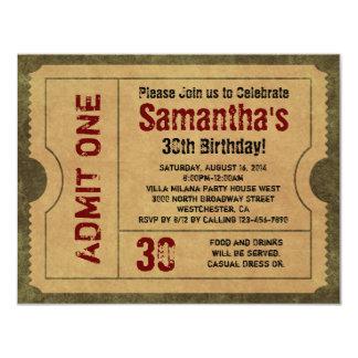 El oro de encargo del vintage admite invitaciones invitación 10,8 x 13,9 cm