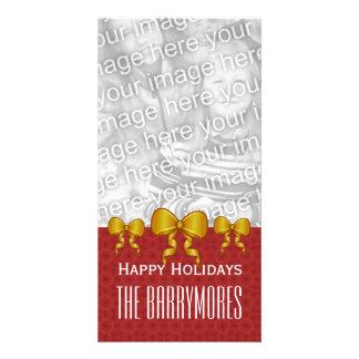 El oro de GROUPON arquea las Felices Navidad V9 Tarjeta Fotografica
