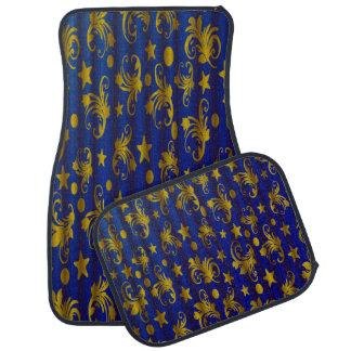 El oro de los azules marinos protagoniza el alfombrilla de coche