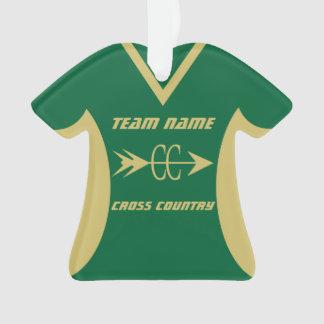 El oro del campo a través se divierte el jersey