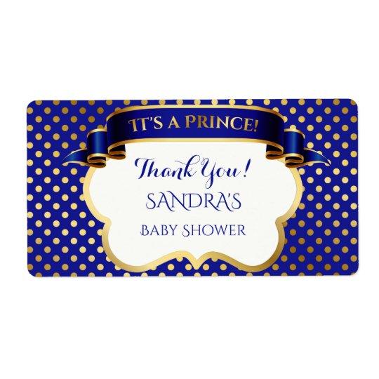 El oro del príncipe azul real le agradece etiqueta de envío