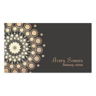 El oro elegante circunda belleza del artista de ma plantillas de tarjetas de visita