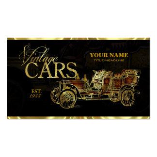 El oro entona la plantilla automotriz de los coche tarjetas de visita