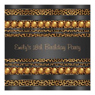 El oro gotea fiesta de cumpleaños de los chicas invitación 13,3 cm x 13,3cm