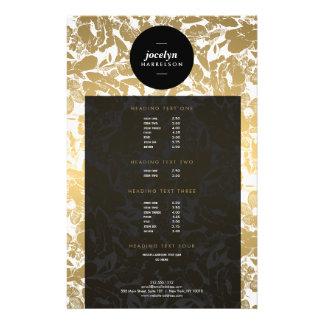 El oro moderno florece el aviador negro del folleto 14 x 21,6 cm