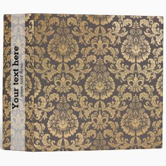 El oro remolina damasco carpeta 5 cm