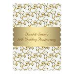 El oro remolina fiesta de aniversario del boda del anuncios personalizados