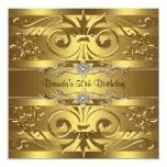 El oro remolina fiesta de cumpleaños del oro anuncio