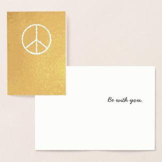 """El oro simple """"paz sea con usted"""" tarjeta de"""