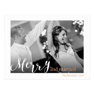 """El oro subió la foto """"feliz y casada"""" de la postal"""