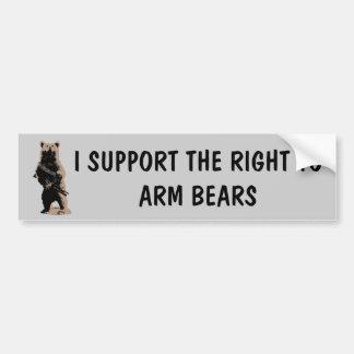 El oso arma al oso grizzly pegatina para coche