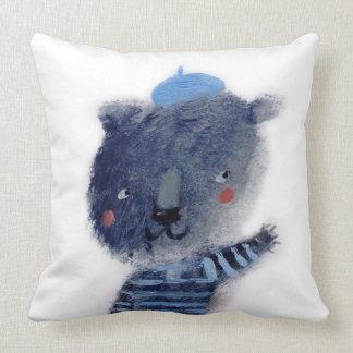 El oso azul cojín decorativo