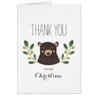 El oso Cub le agradece cardar Tarjeta Pequeña