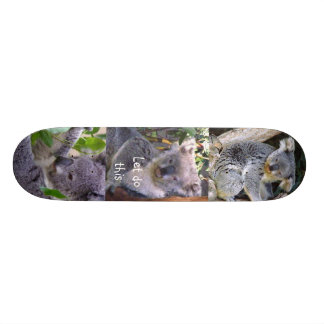 """El oso de koala"""" nos dejó hacer este"""" _Skateboard Patineta Personalizada"""