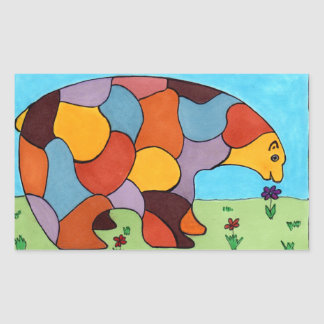 El oso de la paz pegatina
