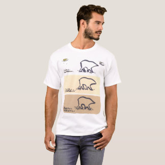 El oso del moreno raya la camiseta del modelo