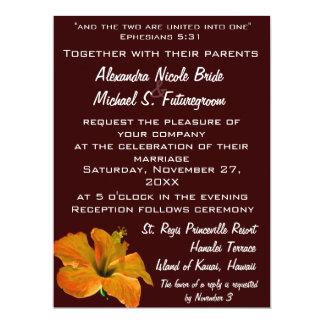 El otoño colorea el boda: Dos se convierten en uno Invitación 16,5 X 22,2 Cm