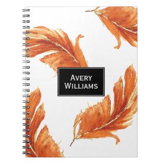 El otoño empluma el ejemplo de la acuarela cuaderno