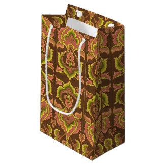 El otoño exótico del vintage colorea el amarillo bolsa de regalo pequeña