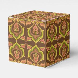 El otoño exótico del vintage colorea el amarillo caja para regalos