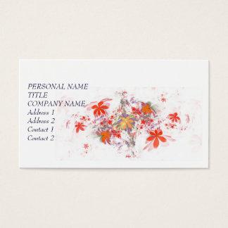 El otoño hermoso florece la tarjeta de visita